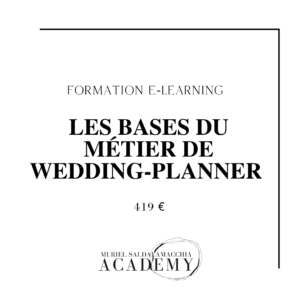 Formation en ligne Les Bases du métier de wedding-planner